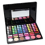 profesional sombra de ojos 78 colores& fundación& ruboriza gama de colores con espejo&esponja de maquillaje conjunto aplicador