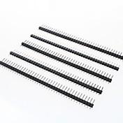 Conectores macho de 2,54 mm de paso de 40 pines (5 piezas)