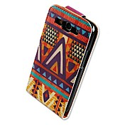 Etui Til Samsung Galaxy Samsung Galaxy Etui Flipp Mønster Heldekkende etui Geometrisk mønster PU Leather til S3