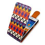Etui Til Samsung Galaxy Samsung Galaxy Etui Flipp Mønster Heldekkende etui Linjer / bølger PU Leather til S2
