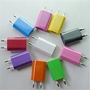 eu ac enchufe para adaptador de cargador de viaje USB 2.0 para iphone 6 iphone 6 más / samsung y otros (colores surtidos)