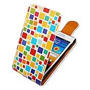 Etui Til Samsung Galaxy Samsung Galaxy Etui Flipp Mønster Heldekkende etui Geometrisk mønster PU Leather til S2
