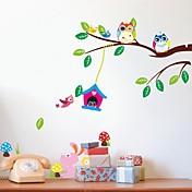 zooyoo® juego pájaro extraíble en el árbol de la pared pegatinas etiquetas de la pared vendedora caliente para la decoración del hogar