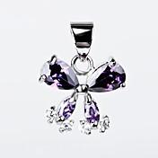 i free®s925 esterlina colgante forma de mariposa con incrustaciones de circón plata (1 pc)