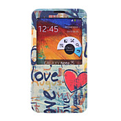 용 Samsung Galaxy Note 스탠드 / 윈도우 / 플립 / 패턴 케이스 풀 바디 케이스 단어 / 문구 인조 가죽 Samsung Note 3
