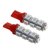 T10 Rojo 2.5W SMD 5050 Luz Instrumental Luz de Puerta
