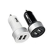 dual usb adaptador de corriente para encendedor de coche para los teléfonos inteligentes y las pestañas