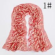 patrón de cebra de la manera bufanda de las mujeres