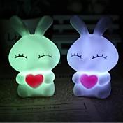coway 사랑 미 토끼 다채로운 야간 조명 램프 고품질