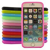 Para Funda iPhone 6 / Funda iPhone 6 Plus Other Funda Cubierta Trasera Funda Un Color Suave Silicona iPhone 6s Plus/6 Plus / iPhone 6s/6