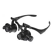 10X/15X/20X/25X Lupas Gafas de lupa Juguetes Nivel profesional Luz LED El plastico ABS 1 Piezas Regalo
