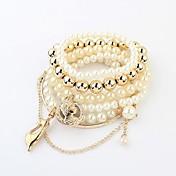 multi-gato pulsera de perlas tramo de la mujer
