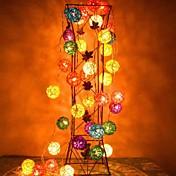 jiawen® 4m 20leds rgb지도 된 등나무 공 끈 장식을위한 가벼운 끈 빛 (AC 110-220v)