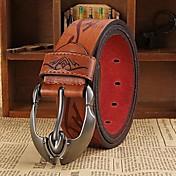 Hombre Piel Cinturón de Cintura - Trabajo Activo Básico Un Color