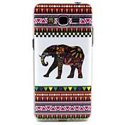 elefante blanco líneas tribales patrón de diseño caso de la cubierta de TPU durable para la galaxia gran prime