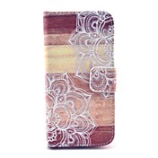 patrón de madera flor mandala caso de cuero de la PU con ranura para tarjeta y soporte para mini i9190 Samsung Galaxy S4