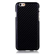 Funda Para Apple iPhone 6 iPhone 6 Plus Other Funda Trasera Color sólido Dura Fibra de carbon para iPhone 6s Plus iPhone 6s iPhone 6 Plus