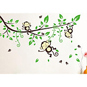 pegatinas de dibujos animados mono la decoración del hogar de la pared jiubai ™ calcomanía