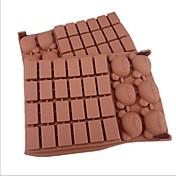 30 hulls gitter bear form kake is gelé sjokolade muggsopp, silikon 18 × 12,5 × 2 cm (7,1 × 4,9 × 0,8 tommer)
