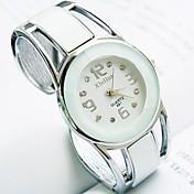 Mujer Cuarzo Reloj Pulsera Reloj Casual Aleación Banda Vintage Moda Brazalete Negro Blanco Azul