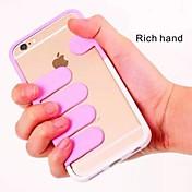 iphone 5 / 5s (분류 된 색깔) iphone 상자를위한 부유 한 손 PC 덮개