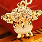 collar de cristal de elefante de las mujeres