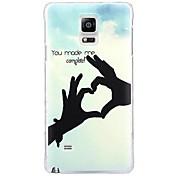 Para Samsung Galaxy Note Diseños Funda Cubierta Trasera Funda Corazón Policarbonato Samsung Note 4