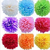 8 pulgadas de la boda flores de papel artesanal decoración del partido pompones de papel de seda de la boda (juego de 4)
