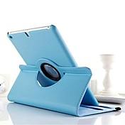 Etui Til iPad 4/3/2 med stativ 360° rotasjon Heldekkende etui Helfarge PU Leather til iPad 4/3/2