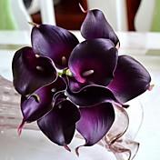 Flores Artificiales 9 Rama Estilo moderno Lirios Flor de Mesa