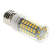 5W 450 lm E26/E27 LED-kornpærer T 69 leds SMD 5730 Varm hvit AC 220-240V