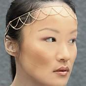 Mujer Legierung Diadema - Metálico Personalizado Borla Básico