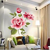 kinesisk stil levende blomst pvc vegg klistremerke