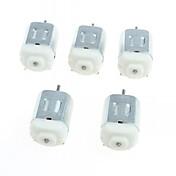 130 motores de corriente continua en miniatura pequeño motor de cuatro ruedas pequeño motor (5 x)