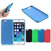 baloncesto textura ultra fina antideslizante de silicona + PU de la cubierta posterior para el iPhone 6s más / 6 más (color clasificado)