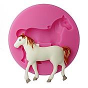 cuatro c cupcake decoración molde gofrado caballo molde de la magdalena de silicona de color rosa