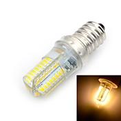 E14 LED 콘 조명 T 64 LED가 SMD 3014 따뜻한 화이트 500-600lm 3000K AC 220-240V