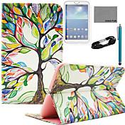 용 카드 홀더 / 지갑 / 스탠드 / 플립 / 패턴 케이스 풀 바디 케이스 나무 하드 인조 가죽 Samsung Tab S 8.4