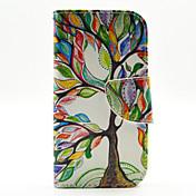 삼성 갤럭시 J1에 대한 카드 슬롯과 다채로운 나무 패턴 PU 가죽 전신 경우