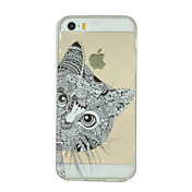 Para Funda iPhone 5 Transparente / Diseños Funda Cubierta Trasera Funda Gato Suave TPU iPhone 7 Plus / iPhone 7 / iPhone SE/5s/5