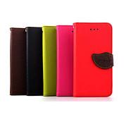 Para Funda Samsung Galaxy Cartera / Soporte de Coche / con Soporte / Flip / Diseños Funda Cuerpo Entero Funda Un Color Cuero Sintético