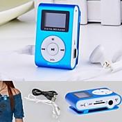 8 세대 MP3 미니 lettore 클립의 USB LCD 화면 충전식 라디오 플레이어