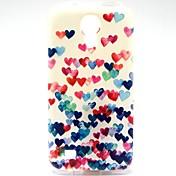 Para Funda Samsung Galaxy Diseños Funda Cubierta Trasera Funda Corazón TPU Samsung S4 Mini