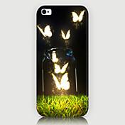 el teléfono del patrón de mariposa cubierta trasera del caso para iphone5c