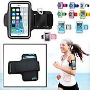 Etui Til iPhone 6s Plus iPhone 6 Plus iPhone-6s iPhone 6 Universell med vindu Armband Armbånd Helfarge Myk tekstil til
