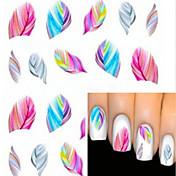 1 pcs Calcomanías de Uñas 3D Etiqueta engomada de la transferencia arte de uñas Manicura pedicura Encantador Dibujos / Moda Diario / Pegatinas de uñas 3D