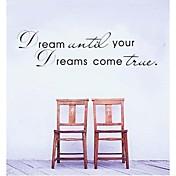 soñar hasta que sus sueños se hagan verdaderas etiquetas de la pared de la casa cotización zooyoo8009 adesivo decorativo vinilos adhesivos