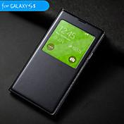 d grande sueño auto / despierta con el caso círculo flip impermeable para i9600 Samsung Galaxy S5 (colores surtidos)