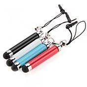 kinston® 4 x retráctil lápiz táctil capacitiva con el enchufe del auricular del anti-anochecer para iphone / ipad / Samsung y otros