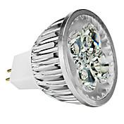 4W GU5.3(MR16) LED-spotpærer MR16 4 leds Høyeffekts-LED Mulighet for demping Varm hvit Kjølig hvit Naturlig hvit 350lm